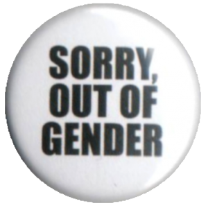 Sorry out of gender