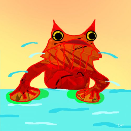 Roter Frosch 1