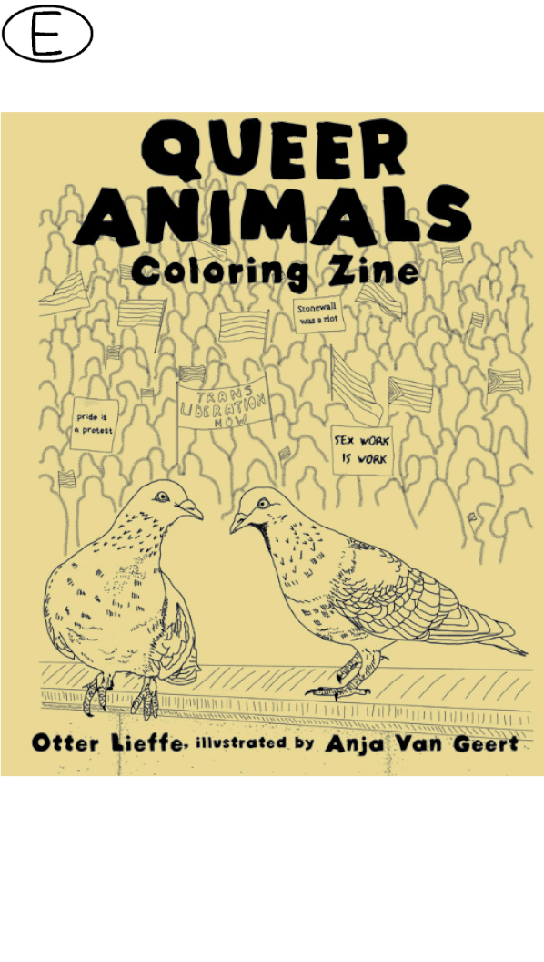 Queer Animals Coloring Zine